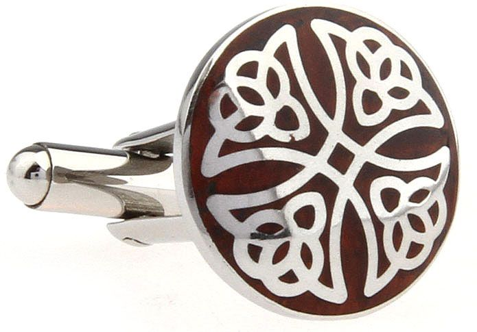 The stunning Celtic design of the cross inset in these cufflinks is sure to impress. Crafted from Polished rhodium and enamel, you'll want a pair of these cufflinks in your collection. Don't wait to get your hands on these awesome cufflinks, purchase your pair today.