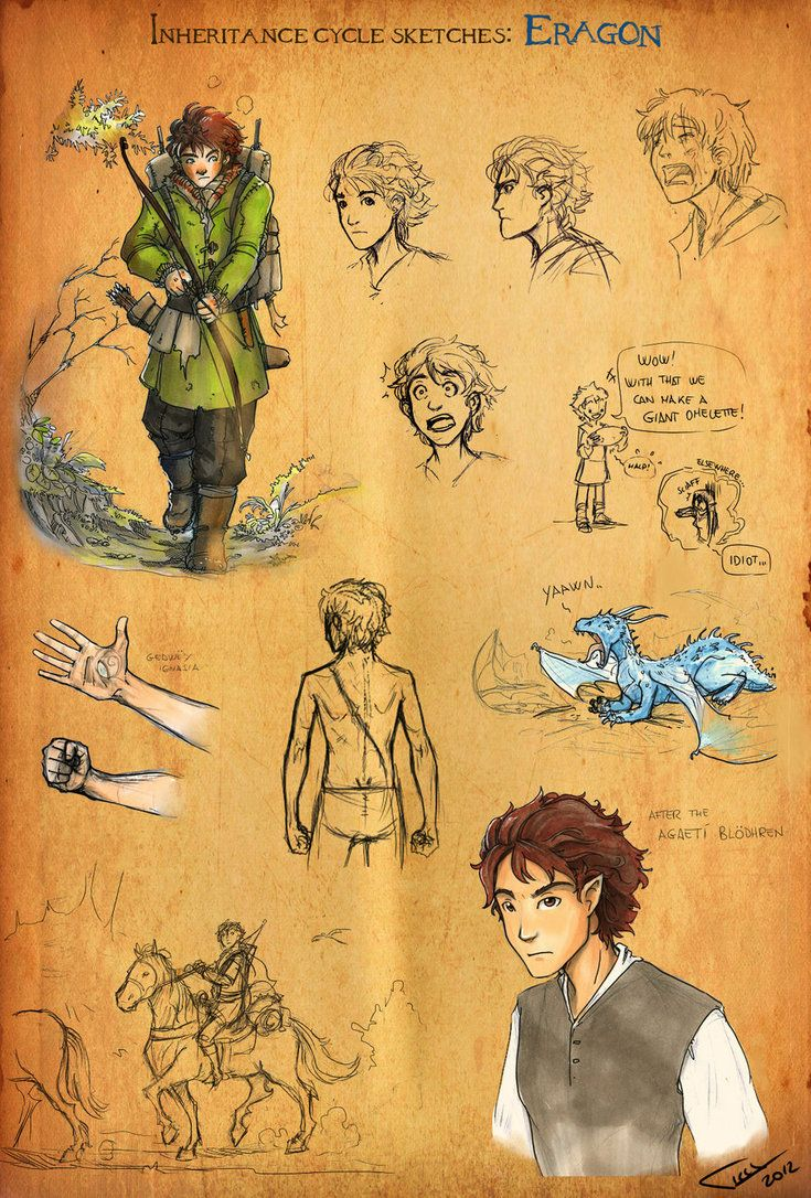 Eragon sketches by *Ticcy on deviantART