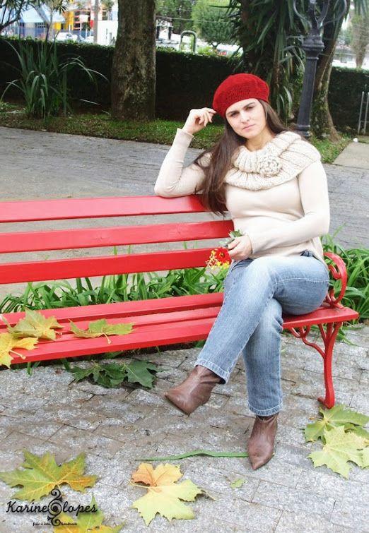 Maxi Gola + Boina - por Ateliê Karine Lopes feito a mão