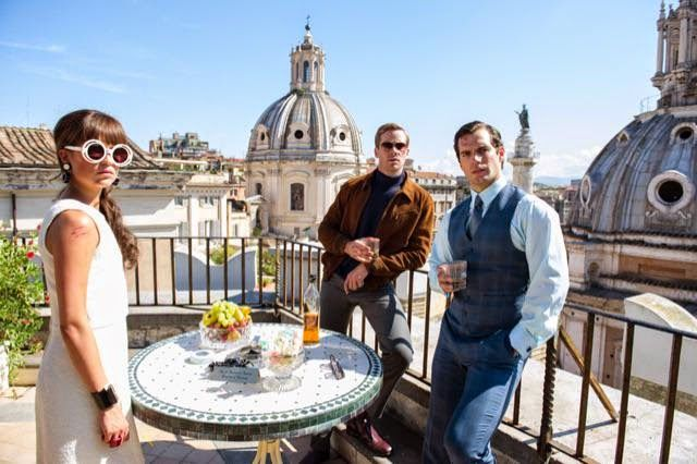The Man from U.N.C.L.E. '60s spy movie which is totally awesome and you must see it if you haven't.
