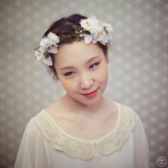 Floral Headpiece For Wedding: Vintage Style Floral Headband