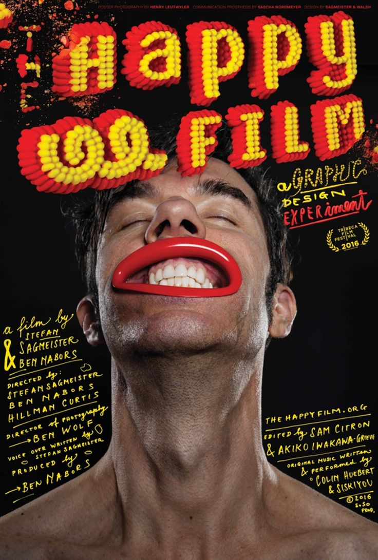 A trailer has been released for Stefan Sagmeister's The Happy Film documentary, five years in the making, with the first screening slated for April during the Tribeca Film Festival..#poster