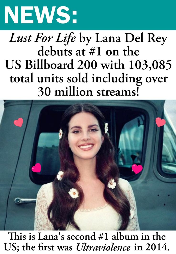 July 31, 2017: Lana Del Rey's Lust For Life album debuts at No.1 on the US Billboard 200 chart in front of Tyler the Creator and Meek Mill!!  #LDR #news