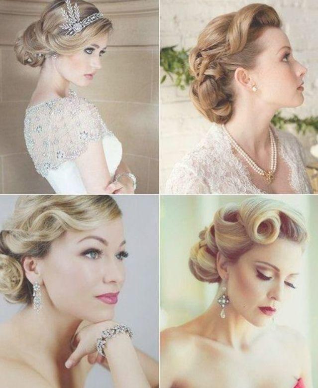 Wedding Hairstyles Looks Wedding Updos 2015 Chignon Vintage Idees De Coiffures Coiffure De Mariage Vintage