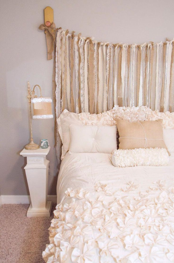 Burlap And Lace Shabby Chic Bedroom Decor Paint Wrought Iron Bed