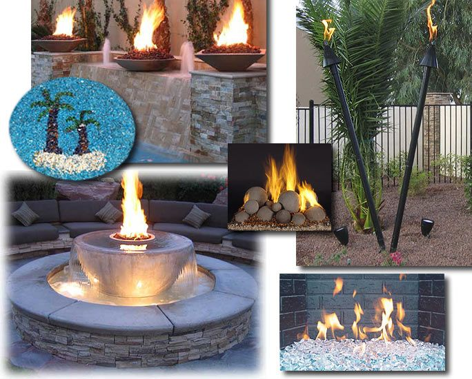 Fire Bowls - FireGlass - Automated Torches - Fire and Water