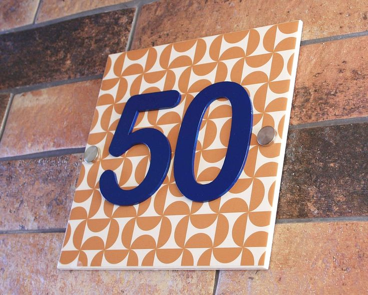 Colourful Number Sign 12 Colour Variations For The Number Custom Made In Uk House Number Sign Tile House Numbers House Numbers Contemporary house numbers uk