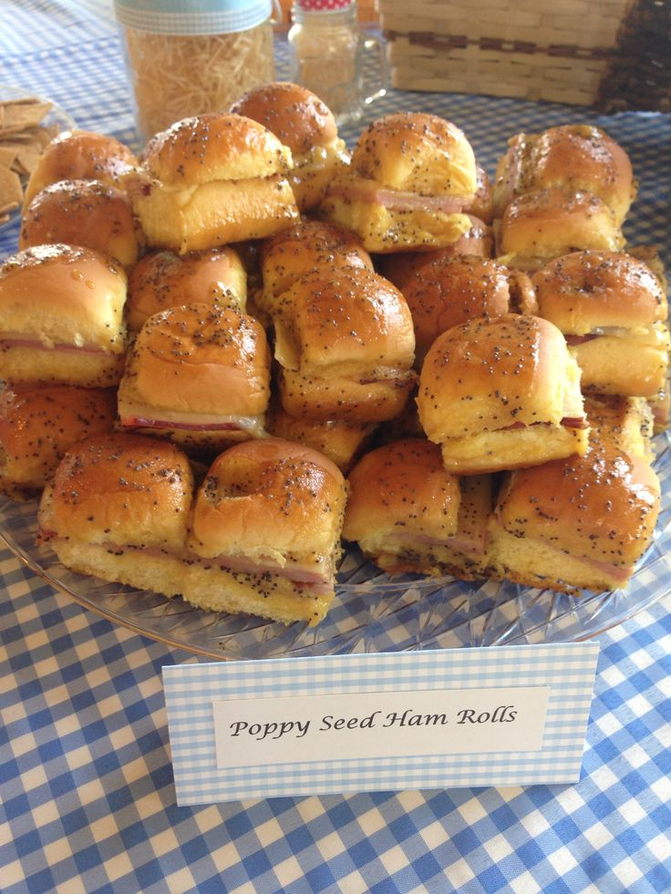 fall bridal shower menu ideas%0A Wizard of Oz Bridal Shower Party food poppy seed ham rolls
