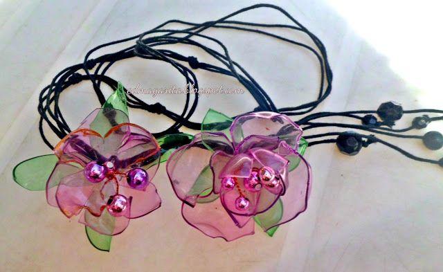 El Portafolio de Edma: Collar Rosa Ensueño - Reciclado