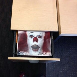 Print out a horrifying image and leave it in a co-worker's desk drawer. | 29 Insanely Easy Pranks You Need To Play On April Fools' Day
