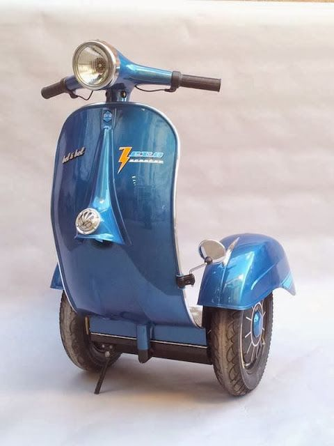 INSTANT COOL ... Vespa Segway (and you can buy one - search 'Awesome Vespa Segway for sale'