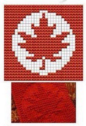 Canada Knit Dishcloths Pattern