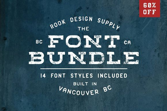 60% OFF Font Bundle - 14 Font Styles by Greg Nicholls on @creativemarket