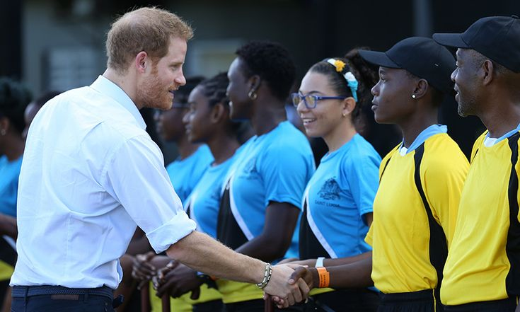 "Prince Harry was greeted by local teams as he arrived to watch an exhibition cricket match at the Darren Sammy Cricket Ground in Castries, Saint Lucia.  During his visit to the island, he was asked how it feels to be a Prince. The royal replied: ""Firstly I don't have a crown or a cape, sorry about that"" and that he doesn't live in a castle.   He continued: ""As a Prince you're born at birth with a natural platform to be able to try and make a difference, which a lot of people have to spend…"