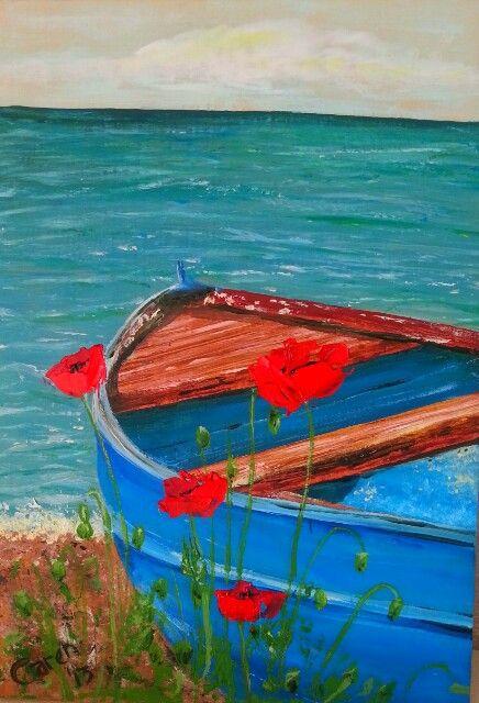 Poppy boat by Caren.sold