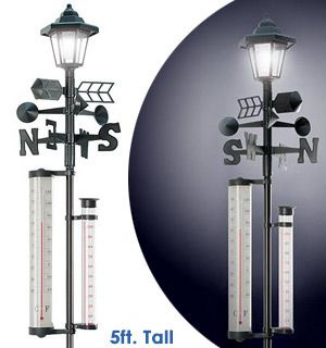 Solar Powered Lamp Post  with Weather Station