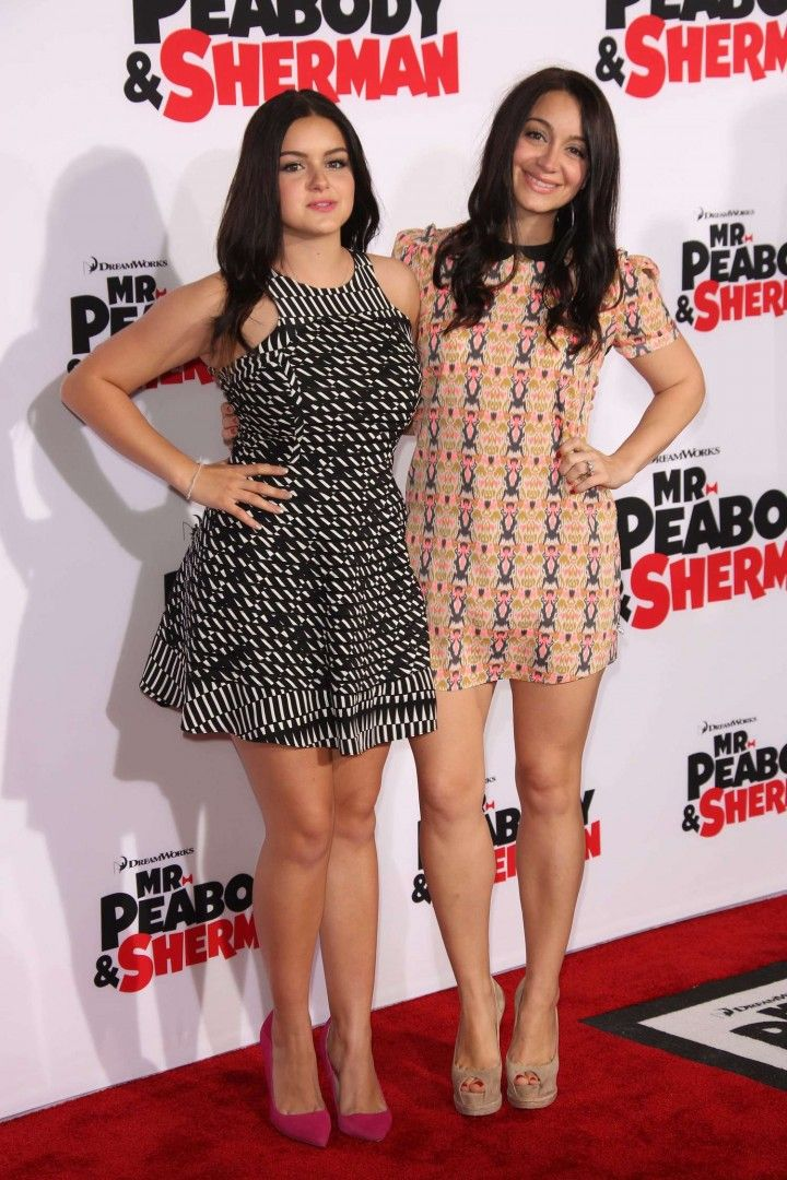 Ariel Winter Mr Peabody Sherman Premiere 09 720x1080 Ariel Winter Kisses Shanelle Workman On The Red Carpet