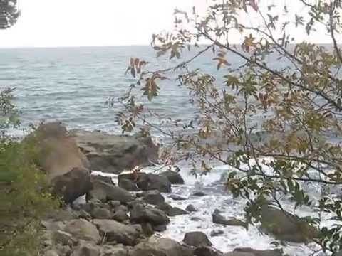 Алупка,спуск на пляж, Детский пляж. Children's beach . Vorontsov palace(Building), Alupka  Ч 5