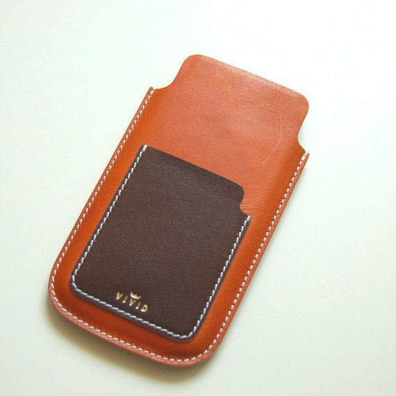 Leather Wallet Case / Sleeve for iPhone 6 by VIVIDleathergoods