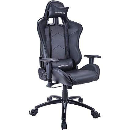 happygame racing gaming chair oversized high back ergonomic swivel rh pinterest com