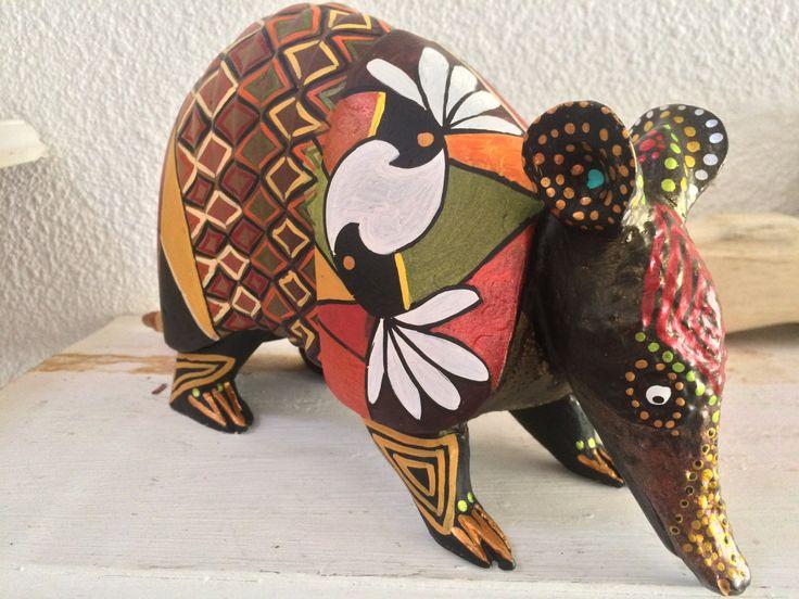 Pintura acrílica tema indígena