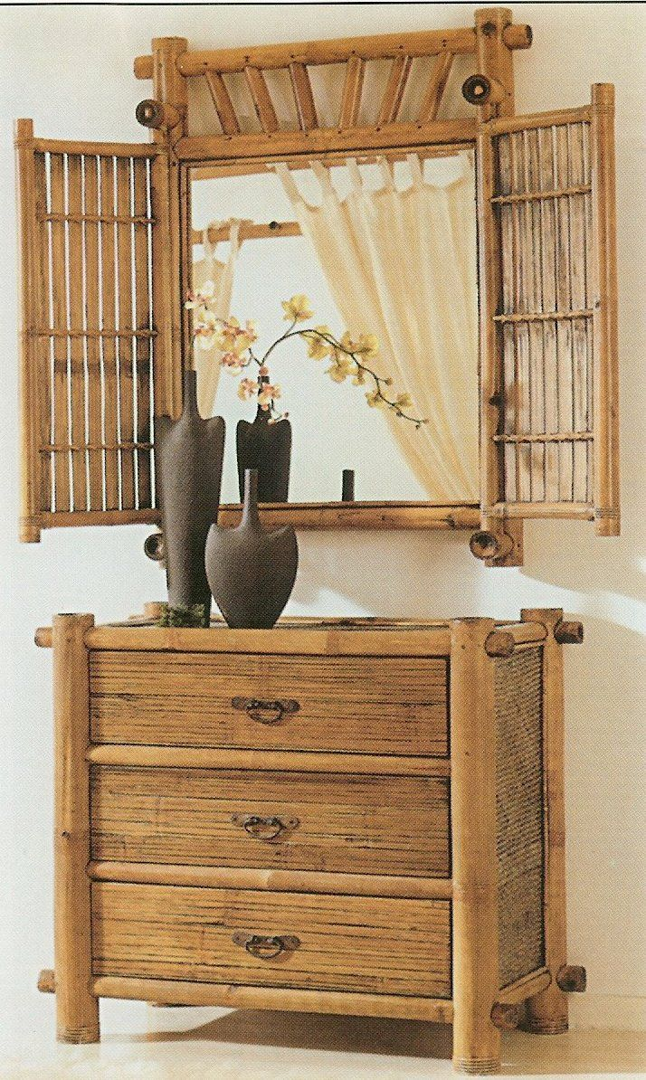 Bamboo Bedroom Dresser can be use for a real windows.