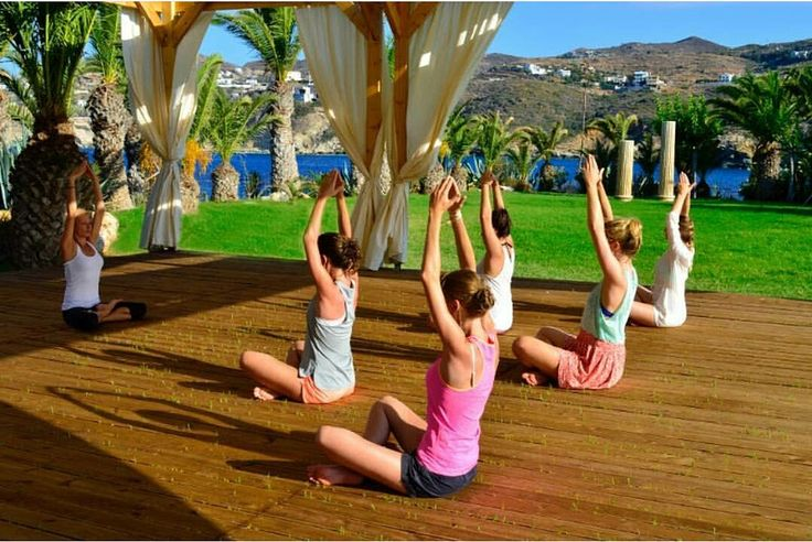 Start your day with a #yoga session to fully rejuvenate your body and soul #outoftheblue #outofthebluecapsis #hotel #crete #agia #aghia #pelagia #resort #luxury