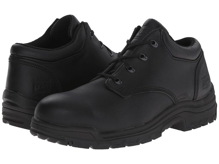 Timberland PRO TiTAN(r) Oxford Alloy Safety Toe Low Men's Industrial Shoes Black Smooth Full-Grain Leather