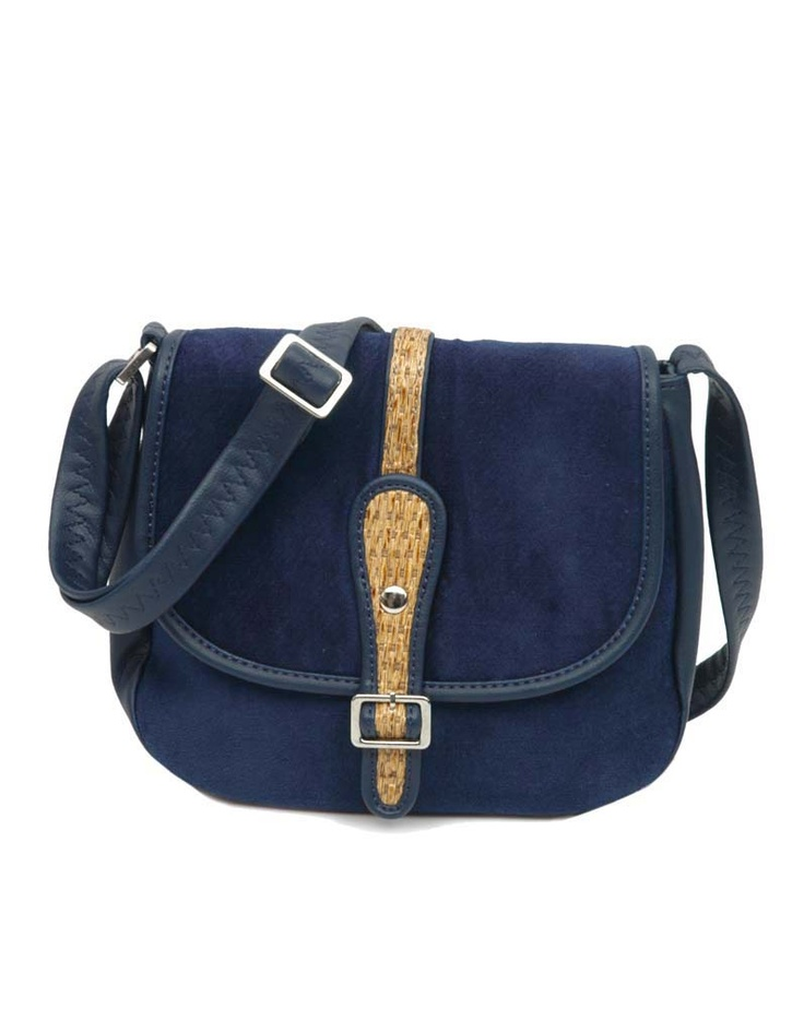 A mini sling with jhute accents by Baggit.