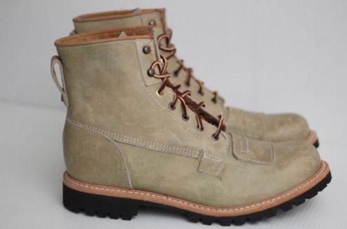 "NEW Timberland Boot Company Smuggler's Notch 8"" Lineman Boot Natural SZ11 M $450"