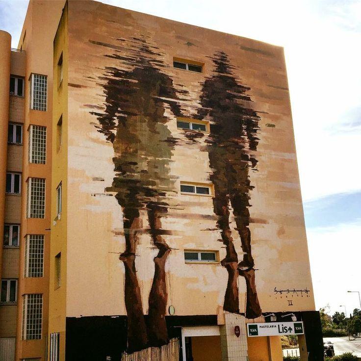 "Street Art su Twitter: ""Street Art by Borondo found in Lisbon #art #mural…"