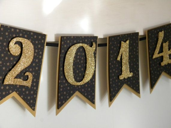 Gold and Black 2014 Graduation Banner #classof2014