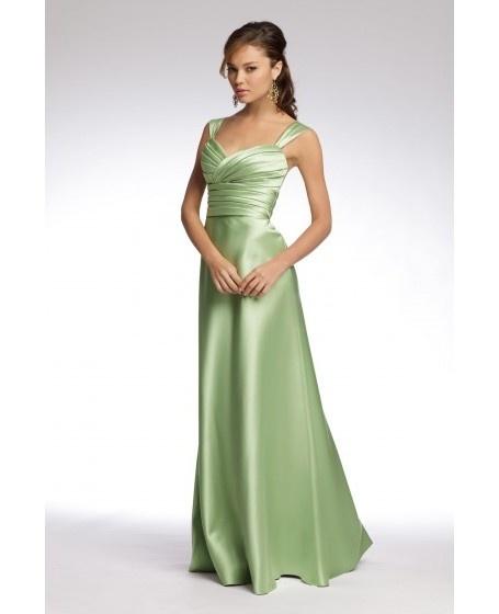 Satin Sheath Sweetheart Draped Bridesmaid Dress