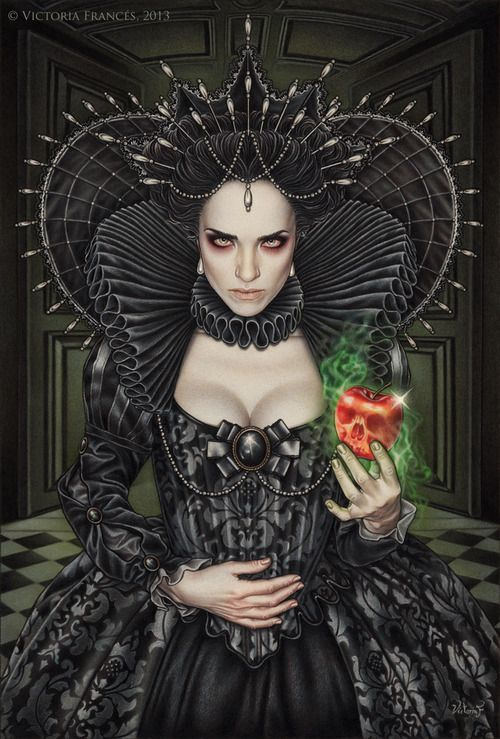 """Poisonous Envy"" by Victoria Frances. Art in black"