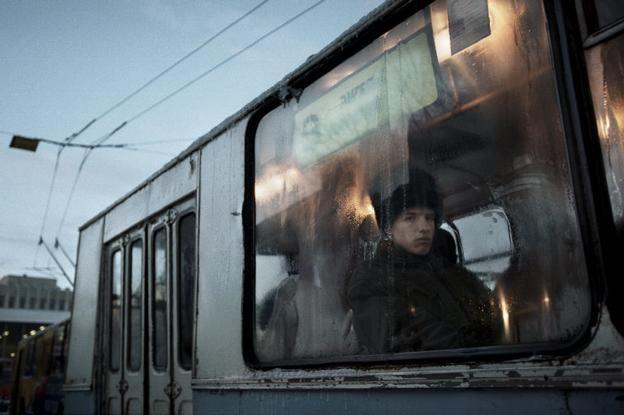 Christopher Anderson  RUSSIA. Samara. 1998. A man on a bus.