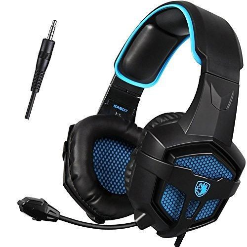 [2016 SADES SA-807 New Released Multi-PlatformXbox one PS4 Gaming Headset ] Gaming Headsets Headphones For Xbox one PS4 PC Laptop Mac iPad iPod (Black&Blue)