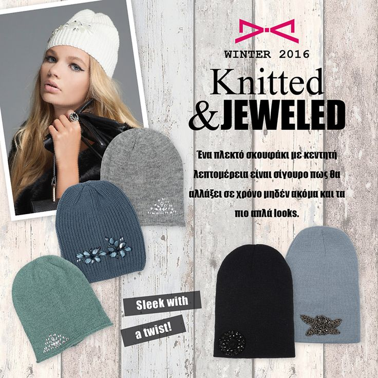 Keep yourself warm and stylish with our jeweled beanies!