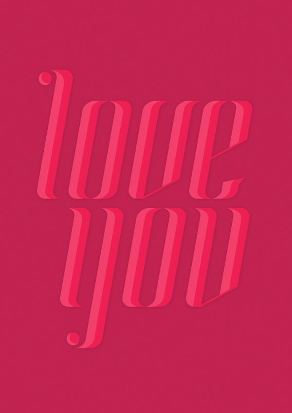 LoveYou Poster by Marcelo P., via Behance