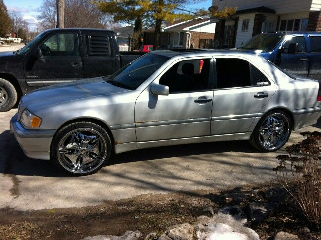 "My 1998 Mercedes c280 with 20"" dub rims"