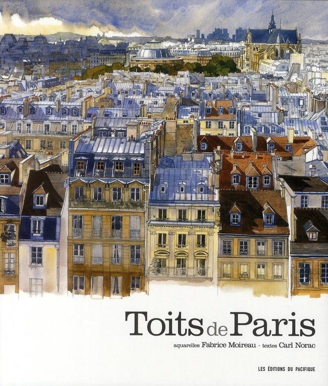 """Aquarelle extraite du carnet """"Toits de Paris"""" par Fabrice Moireau (1962) artiste…"""