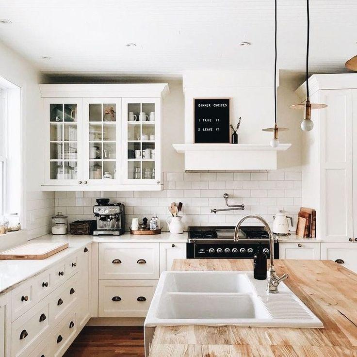 Nice 99 Gorgeous Rustic Farmhouse Kitchen Decoration