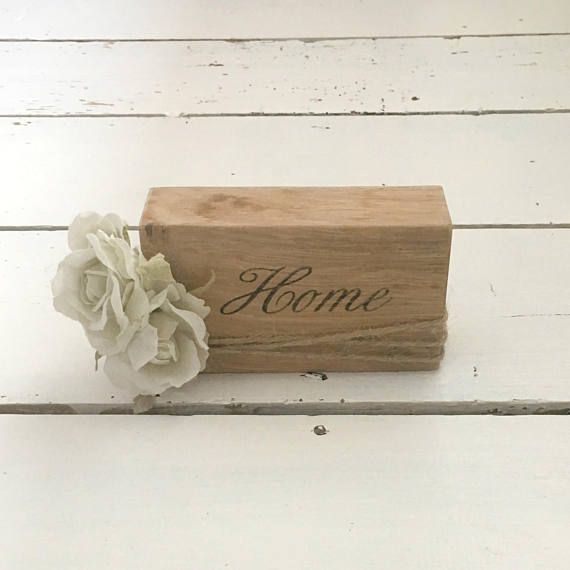 Home Word Block Wooden Word Art Word Sign Wooden Blocks