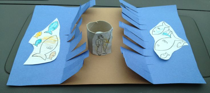 Moses Parts the Red Sea  Sunday School Craft
