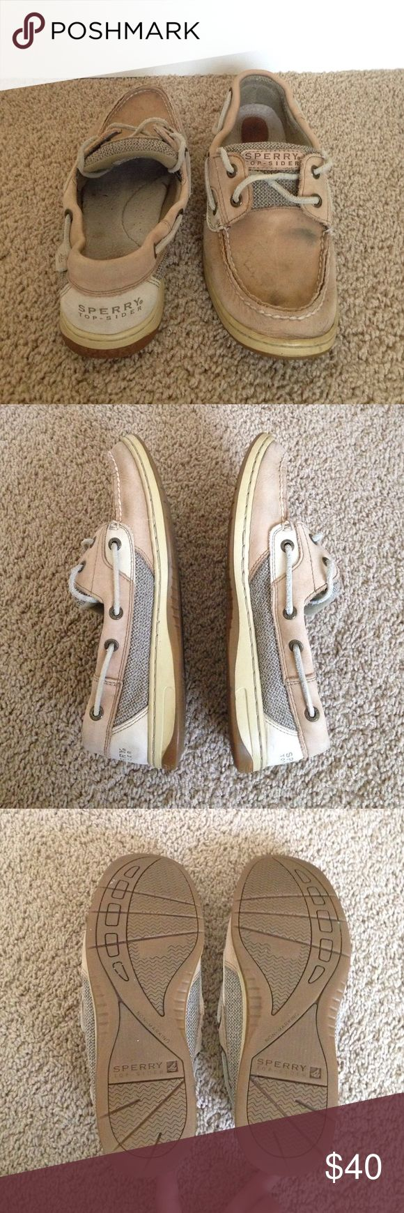 Classic Sperry's Boat Shoe Classic women's boat shoe purchased from the Sperry store. Very comfortable shoes, worn multiple times, still in overall good condition!  🔸Feel free to make an offer!🔸 Sperry Top-Sider Shoes Sneakers