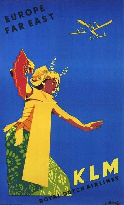 Vintage KLM TP: Europe & The Far East