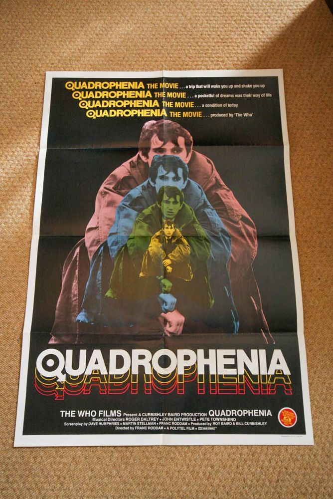 One of my QUADROPHENIA Vintage Movie Posters for sale! THE WHO 60s MODS LAMBRETTA VESPA SCOOTER
