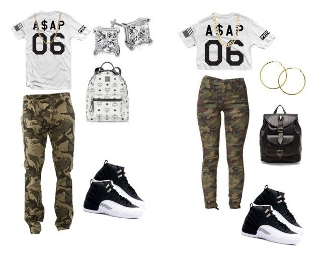 """""""couple swag"""" by diggys-bae ❤ liked on Polyvore featuring Forever 21, Melissa Odabash, Blue Nile, MCM, Stela 9, Jane Norman and ASOS"""