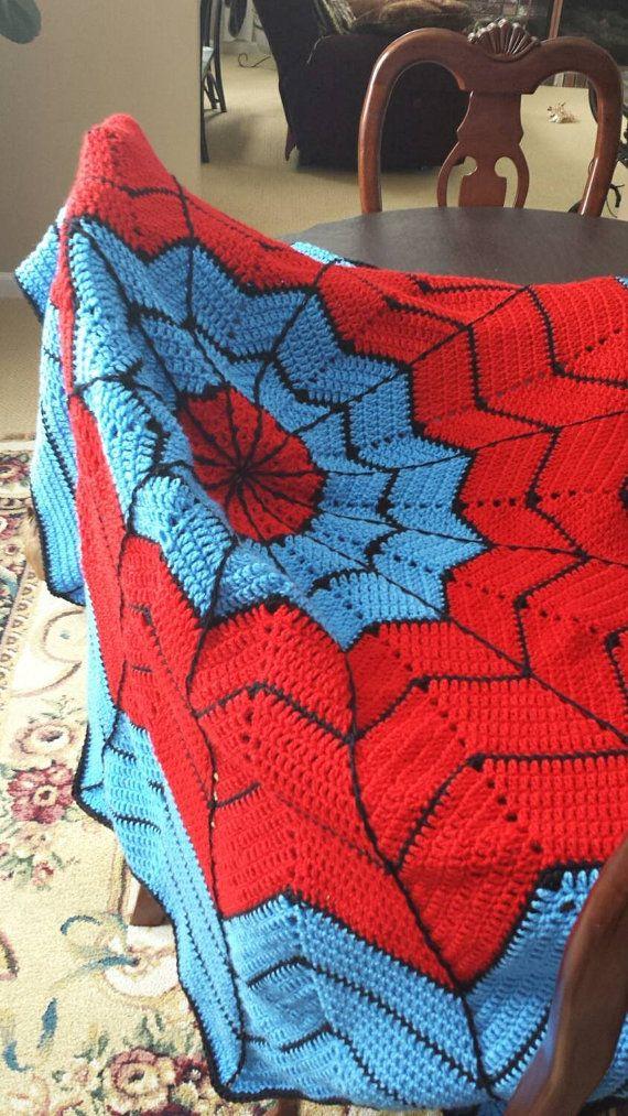 Spiderman Blanket Knitting Pattern : 25+ best ideas about Spiderman blanket on Pinterest Cool crochet blanket, C...