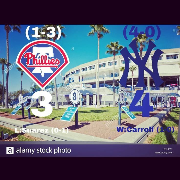 Phillies lost again to the Yankees tonight 4-3. I wasnt able to watch it because it wasnt televised. Phillies are back at it tomorrow afternoon at home vs the Tigers at 1:05 to try and end their two game losing streak #phillies #philliesnation