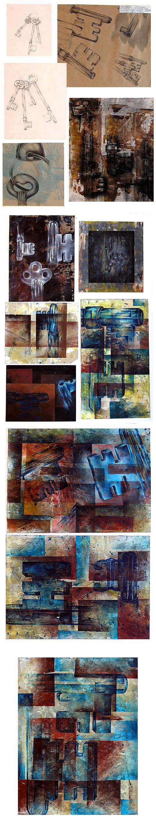 Ideas for Abstraction: International GCSE Art exam 100%